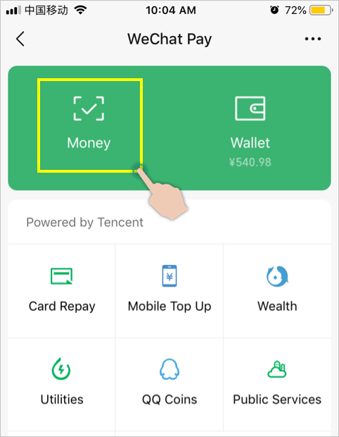 Access WeChat Pay