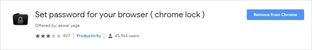 Add Chrome Lock Extension