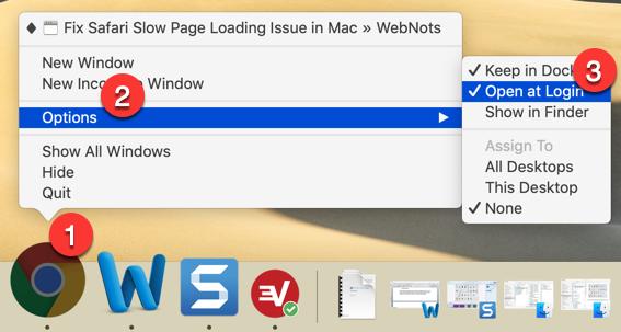 Add Login Item in Mac