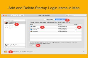 Add and Delete Startup Login Items in Mac