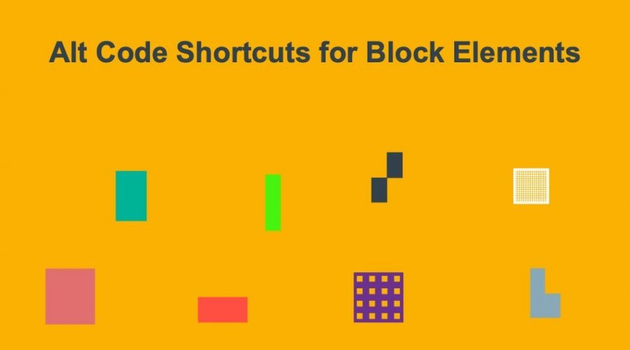 Alt Code Shortcuts for Block Elements