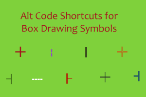 Alt Code Shortcuts for Box Drawing Symbols