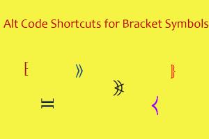 Alt Code Shortcuts for Bracket Symbols