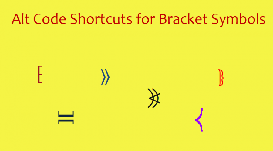 Alt Code Shortcuts for Bracket Symbols