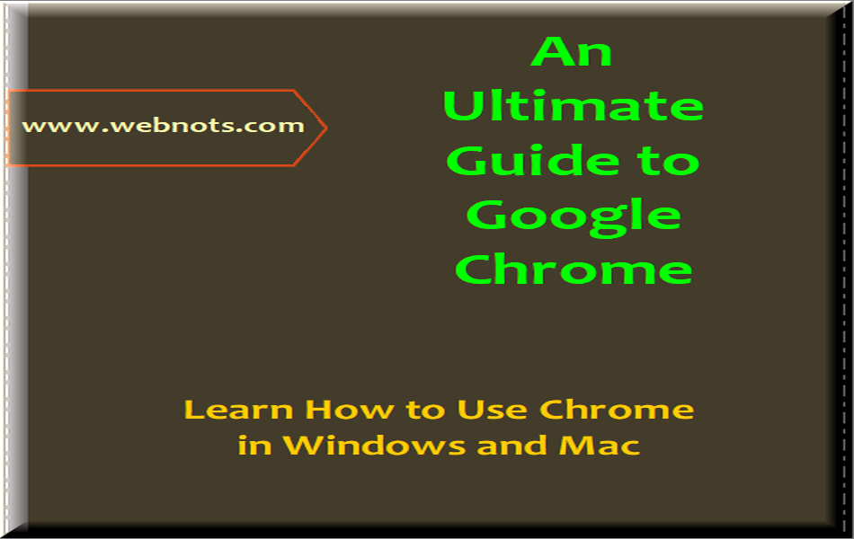 Beginners Guide to Google Chrome