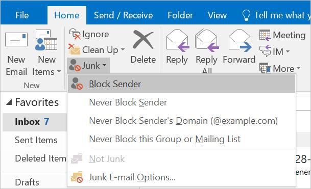 Block Sender