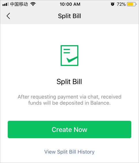 Create New Split Bill
