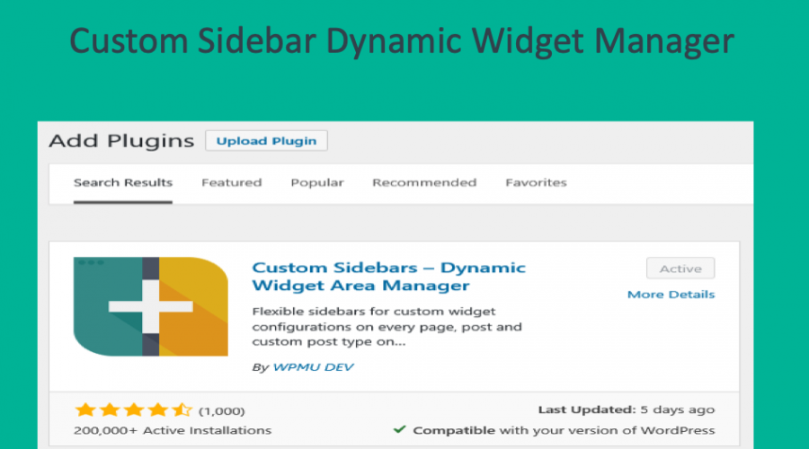 How to Use WordPress Custom Sidebars Dynamic Widget Area Manager Plugin?