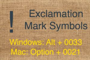 Exclamation Mark Symbol