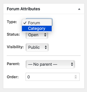 Forum Attributes Metabox