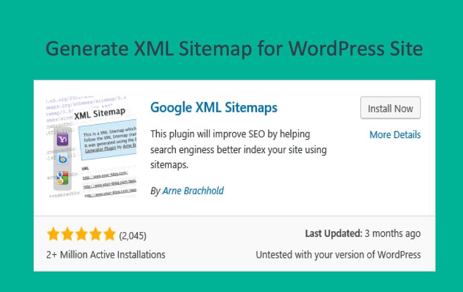 Generate XML Sitemap for WordPress Site