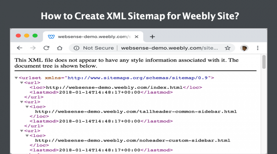 How to Create XML Sitemap for Weebly Site?