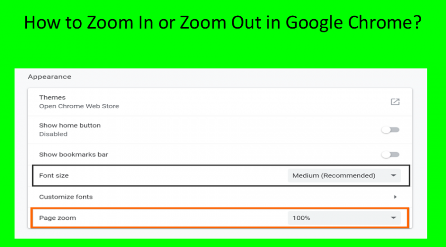 How to Zoom In, Zoom Out and Change Font Size in Google Chrome?