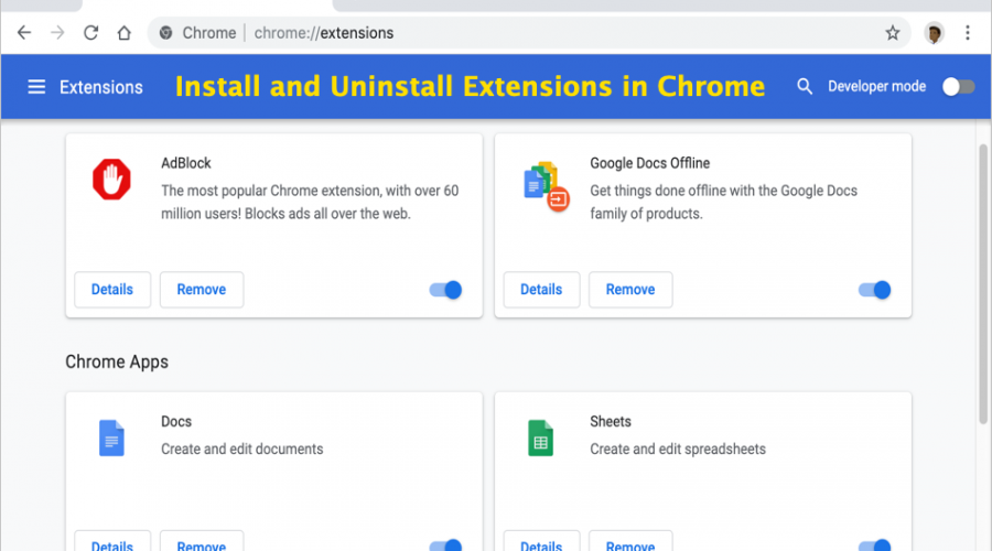How to Install and Uninstall Extensions on Google Chrome?