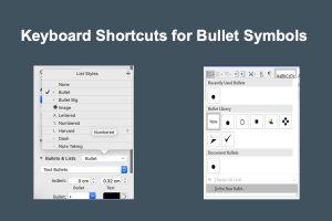 Keyboard Shortcuts for Bullet Symbols