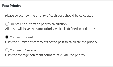 Priority Calculation