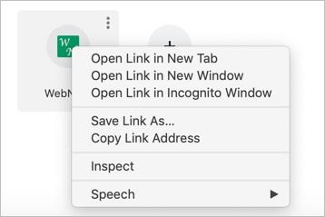 Right Click on Chrome Mac Shortcut
