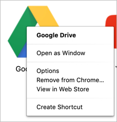 Right Click on Mac Chrome App