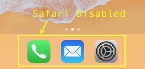 Safari App Disabled
