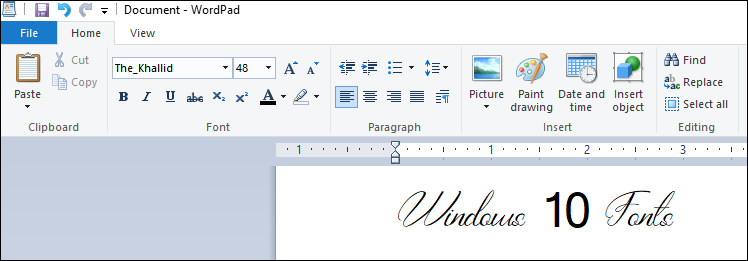 Use Font