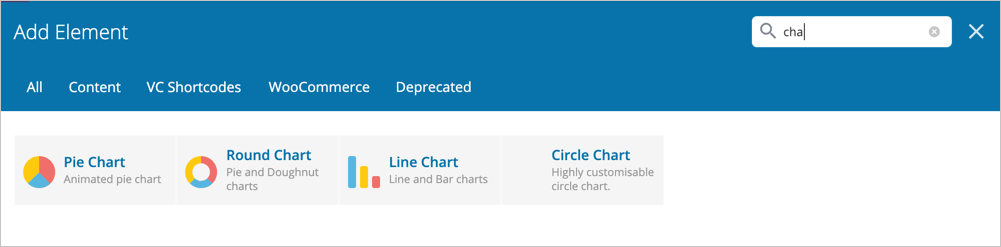 WPBakery Page Builder Charts