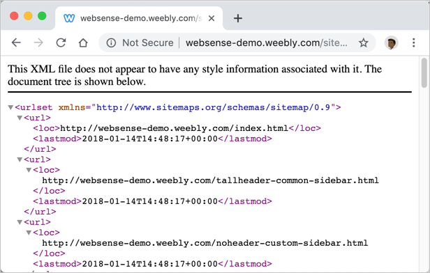 Weebly XML Sitemap
