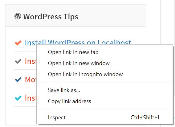 Windows Context Menu on Links