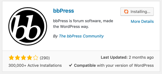 bbPress Plugin for WordPress Forum