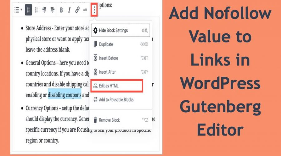 How to Add Nofollow to Links in WordPress Gutenberg Editor?