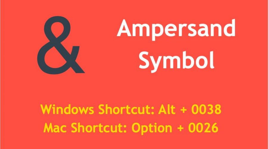Keyboard Shortcuts for Ampersand Symbol