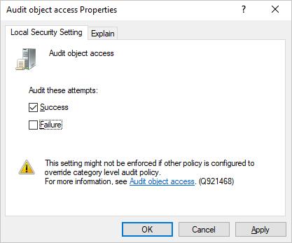 Audit Options