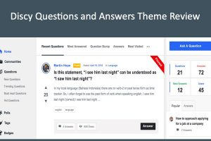 Discy Questions and Answers Theme Review