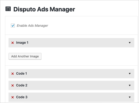 Disputo Ad Manager