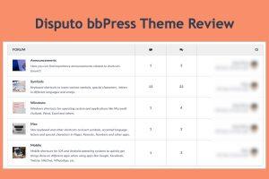 Disputo bbPress Theme Review