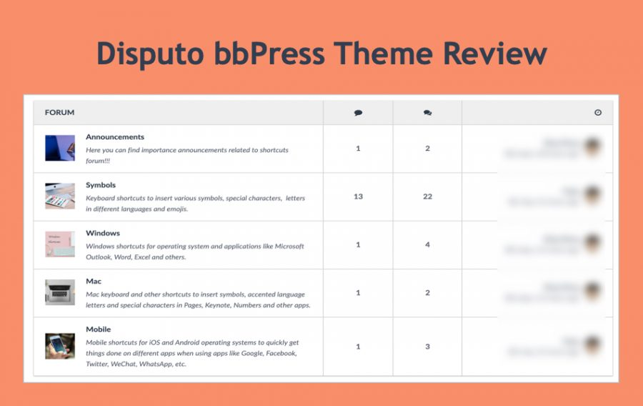 Disputo bbPress WordPress Theme Review