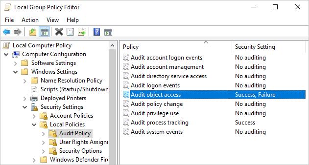 Edit Object Access