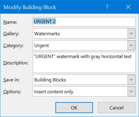Edit Word Building Block