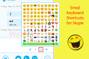 Emoji Keyboard Shortcuts for Skype