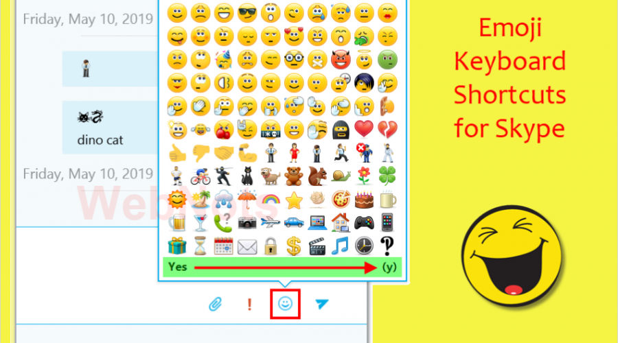 600+ Skype Emoticons Keyboard Shortcuts