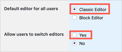 Enable Classic Editor in WordPress