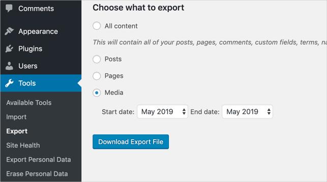 Export Media Content