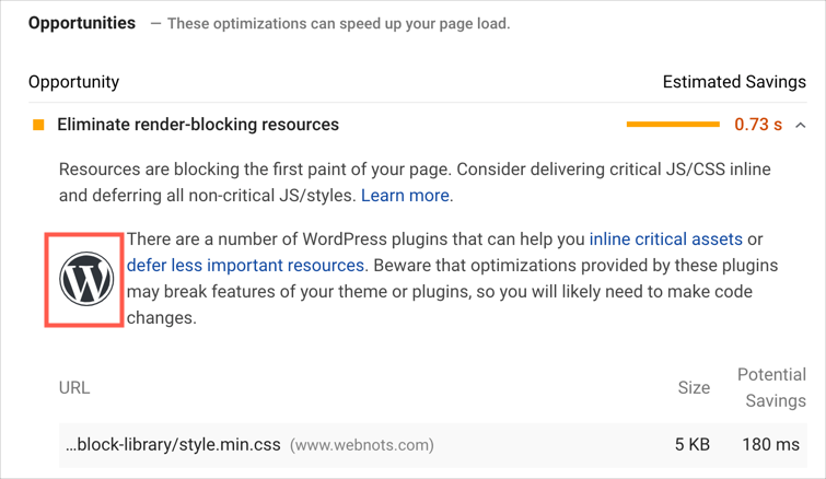 Find WordPress Site with Google PageSpeed Insights Tool