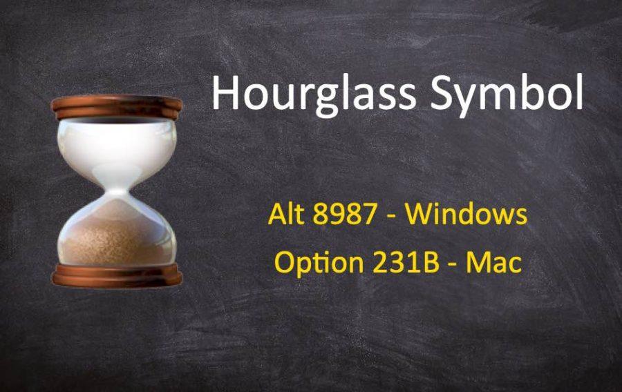 Keyboard Shortcuts for Hourglass Emoji Symbols