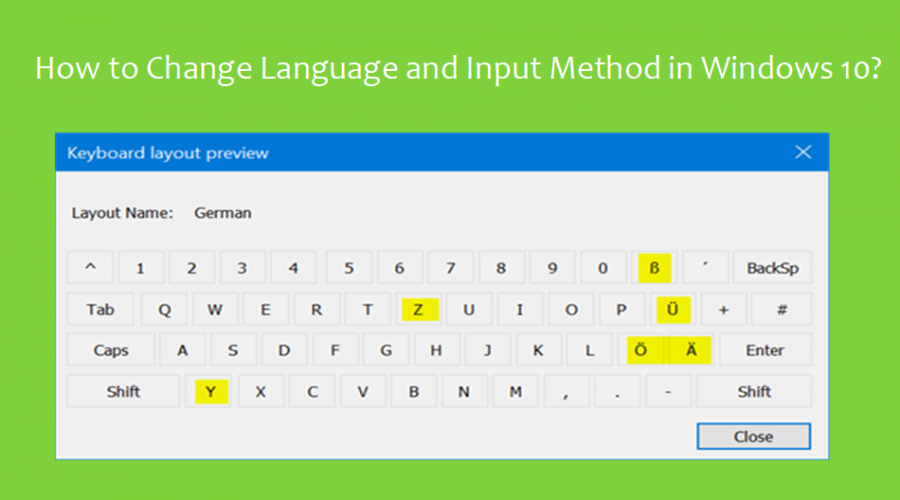 How to Change Language and Input Method in Windows 10?
