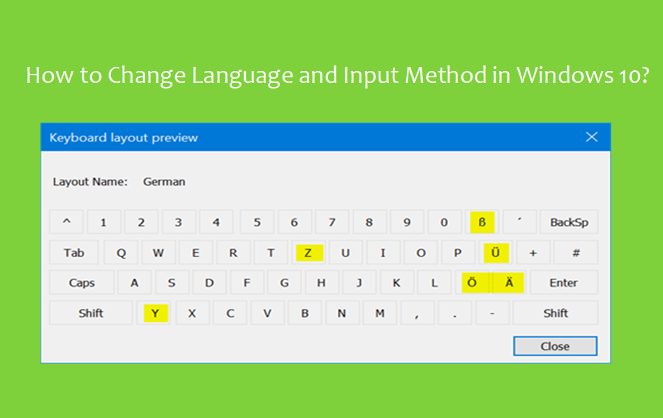 How to Change Language and Input Method in Windows 10