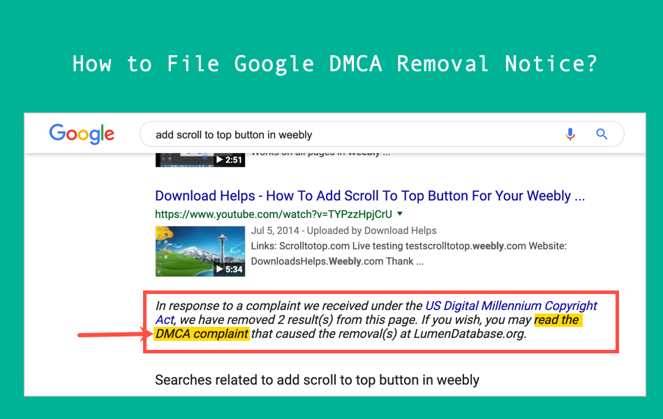 How to File Google DMCA Removal Notice?