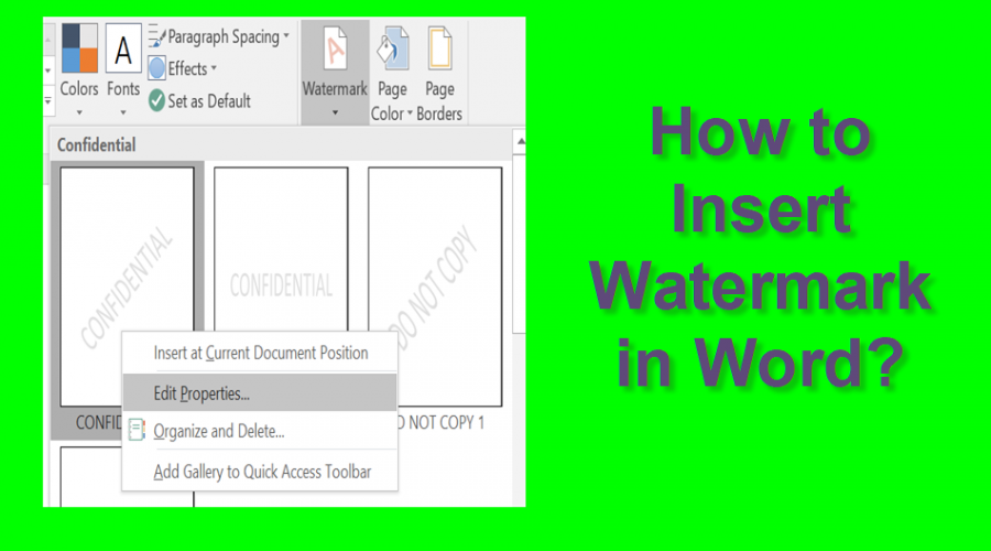 How to Add Watermark in Microsoft Word Documents?