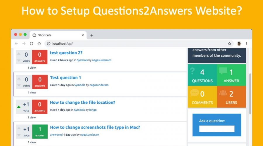 How to Setup Questions2Answers Website?