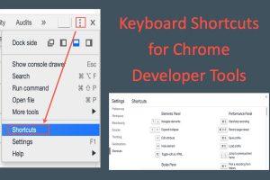Keyboard Shortcuts for Chrome Developer Tools