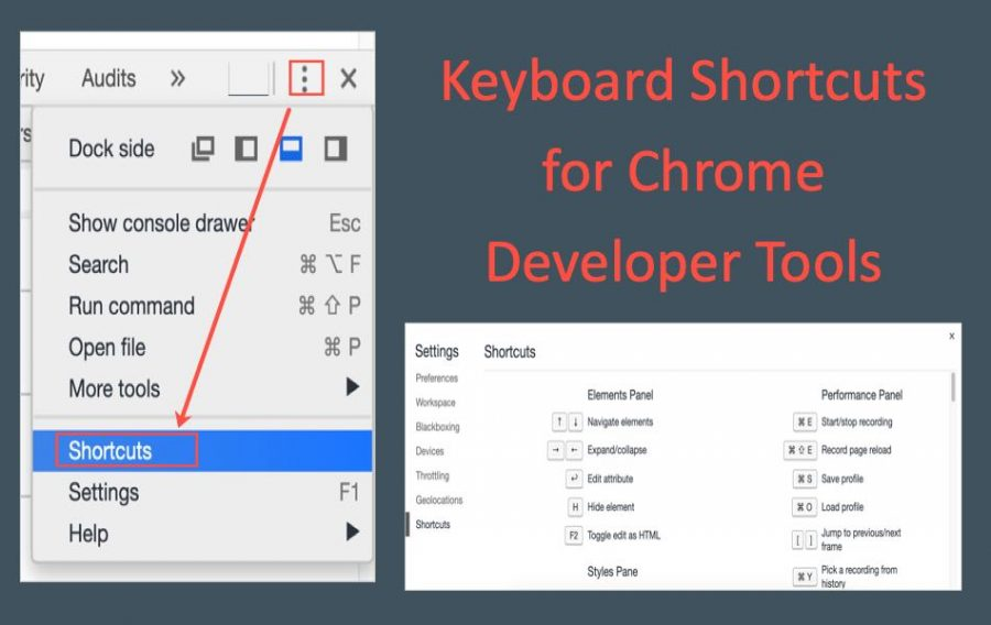 Keyboard Shortcuts for Chrome Developer Tools